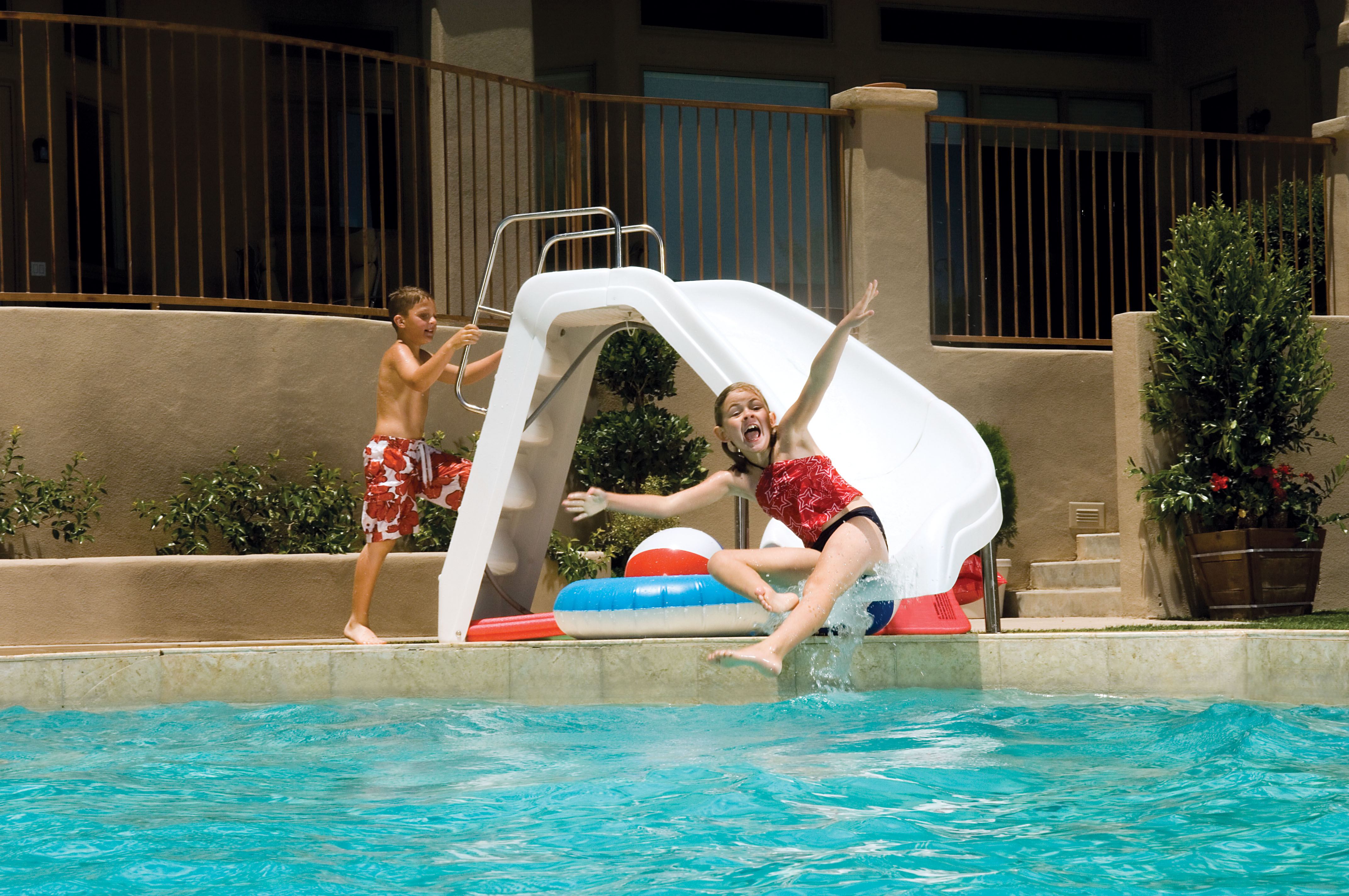 Fun in the sun with modern pool toys and slides SPLASH Magazine