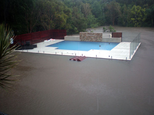 Flood Damaged Swimming Pool : Cleaning pools after floods and fires splash magazine