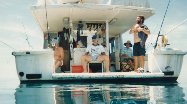 One of the many industry fishing cruises of the Whitsundays, this one with Peter Moore, Paul Bradshaw, Norm Harvey and Terry Ellis