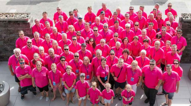 The Compass dealer network, all decked out in pink